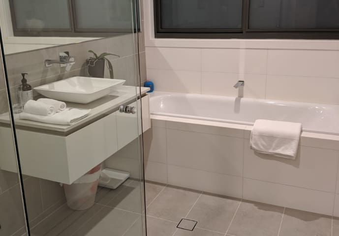 Your private bathroom with heated floor