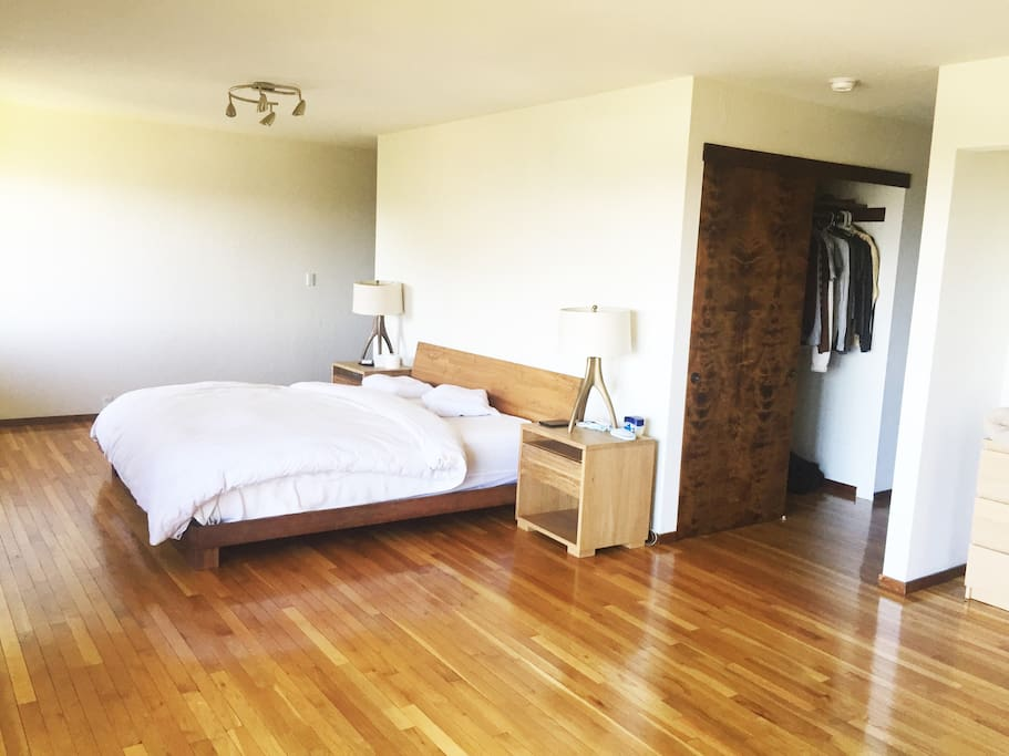 Master bedroom, spacious w/ ample closet space