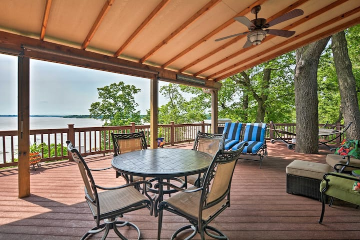 Home on Grand Lake w/ Grill + Panoramic View!