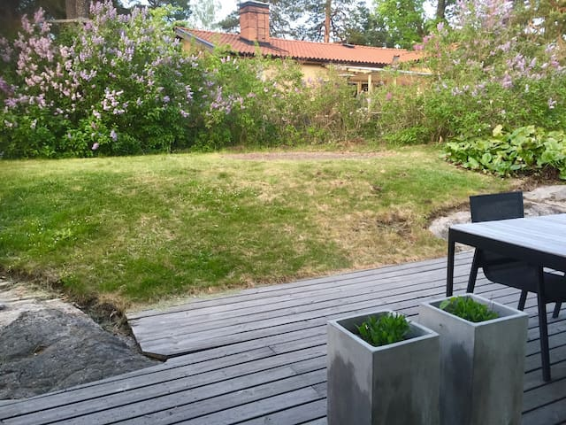 Garden and outdoor dining place