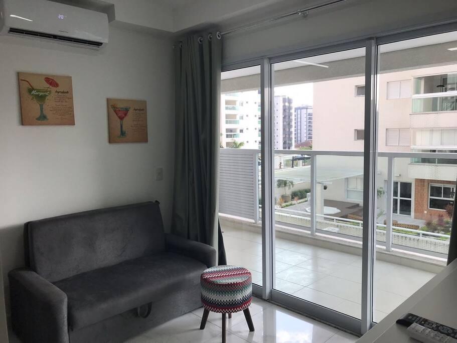 sala com ampla varanda