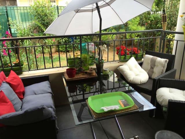 Grand studio en rez de jardin - Nicea - Apartament