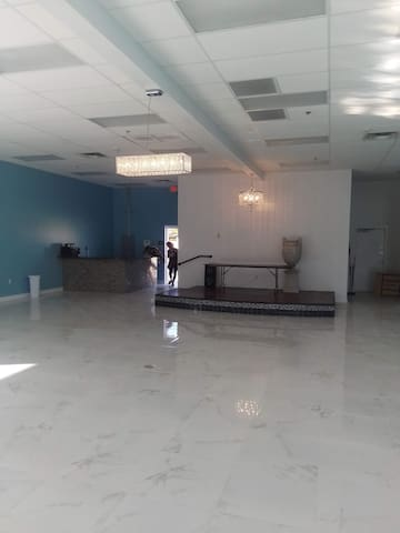 Banquet Hall with a bedroom