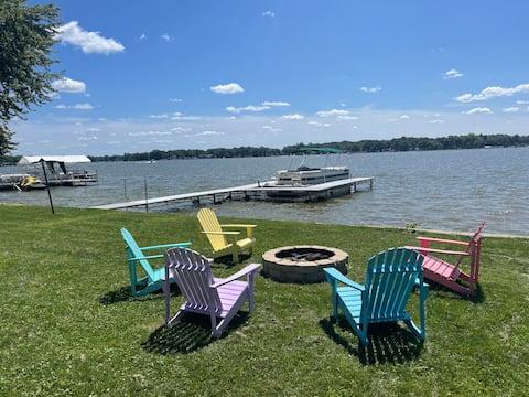 Beautiful Koontz Lake apartment right on the lake