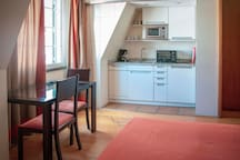 ... a functional kitchenette...