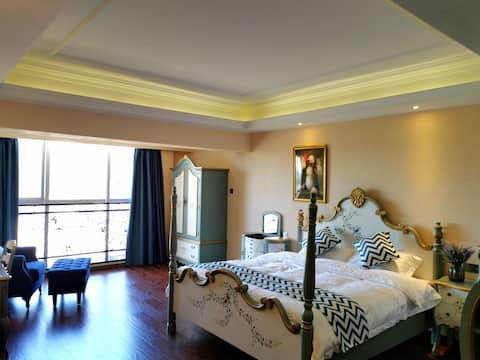 东山岛金銮湾 欧式大床豪华公寓 大海就在小区门口,看海看日出非常方便,苏峰山就在旁边
