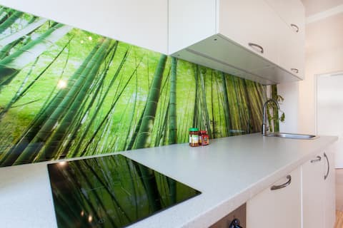 Green bamboo lounge, 2 bedrooms