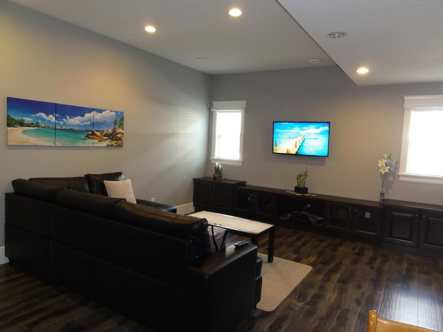 Private lounge with TV and entertainment