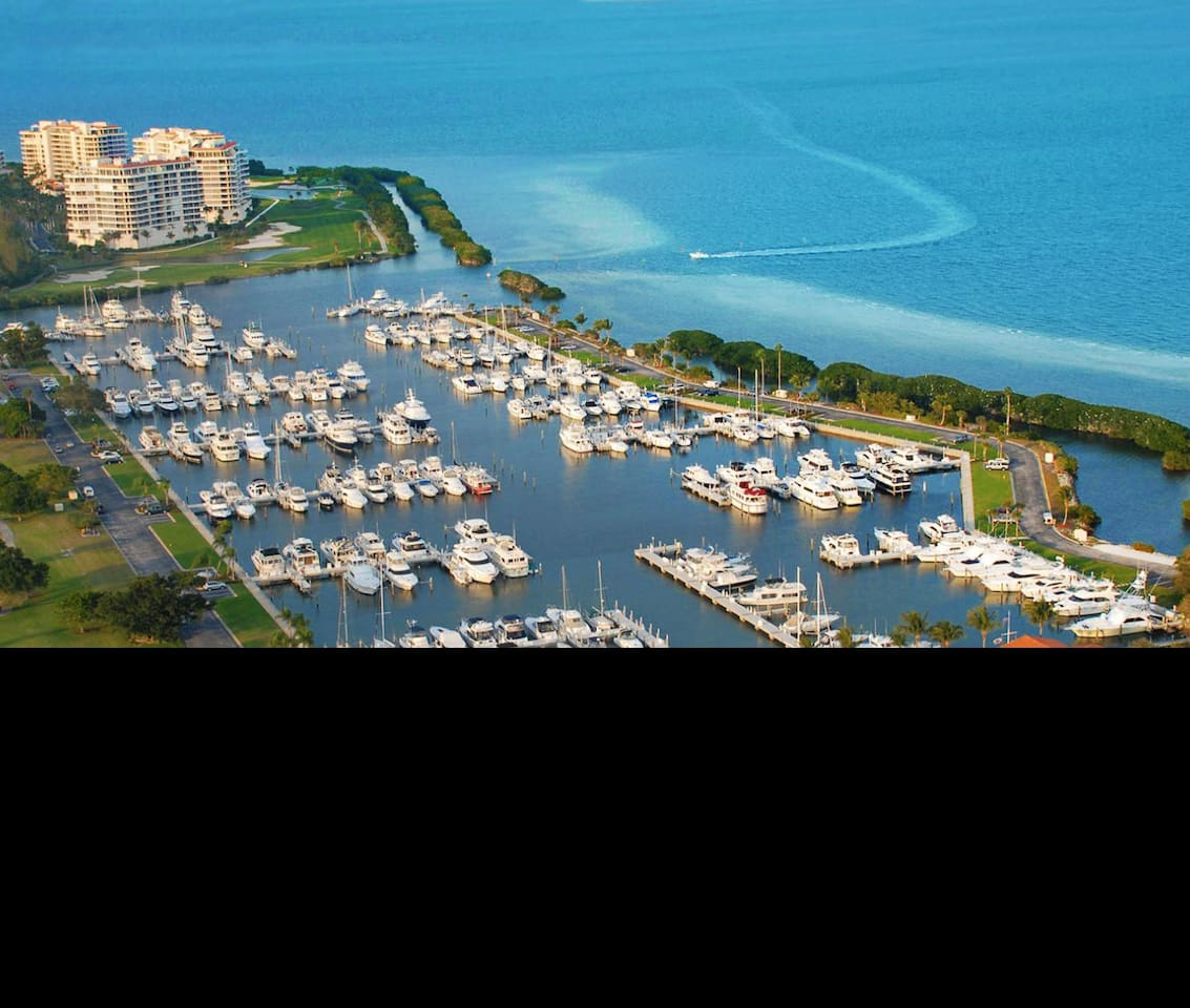 Top spot in marina for your floating hotel experience