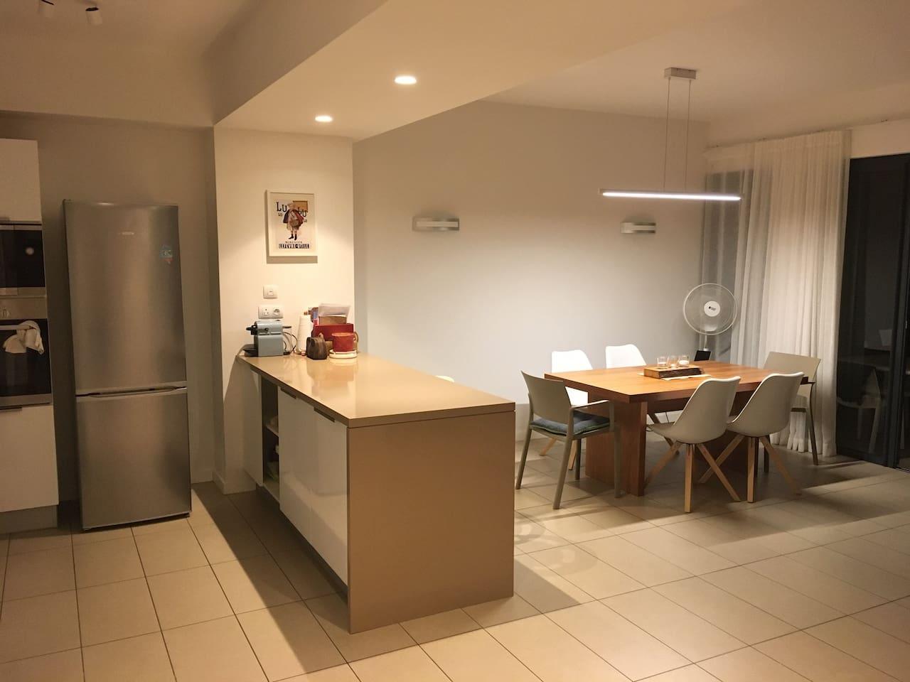 Kitchen area night