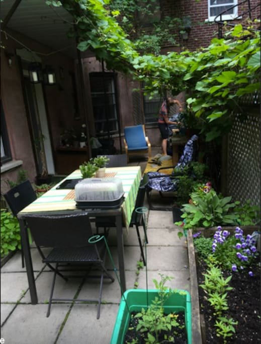 Our nice patio in the summer! Unfortunately it's not summer now. Darn it.