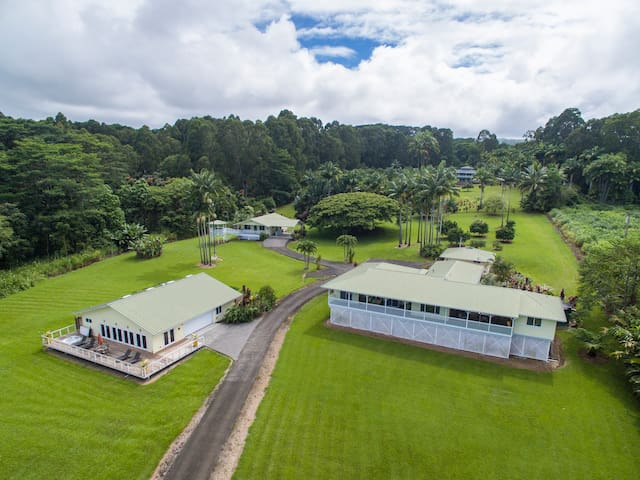 Cacao Orchard Estate with Studio & Spa - Hakalau - Casa