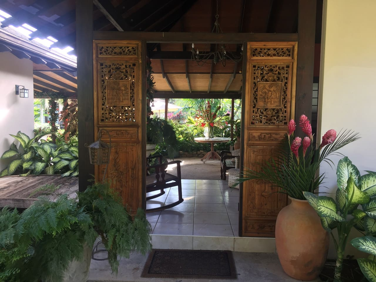 Welcome to our tropical Balinese style home
