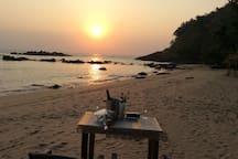 Cola Beach Sunset