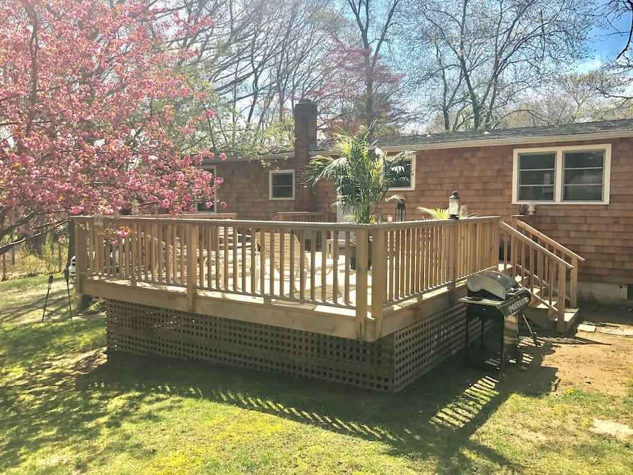 large deck in Spring