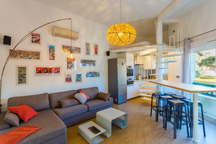 CINE'HOME in town - Bedroom & mezzanine + Parking