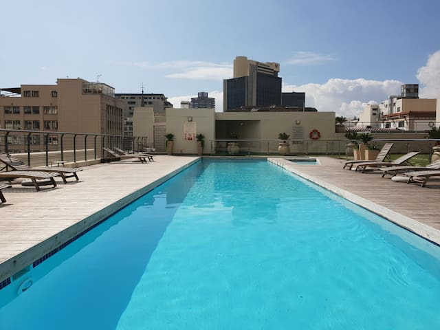 Rooftop pool ,City Center,Mandela Rhodes, Parking