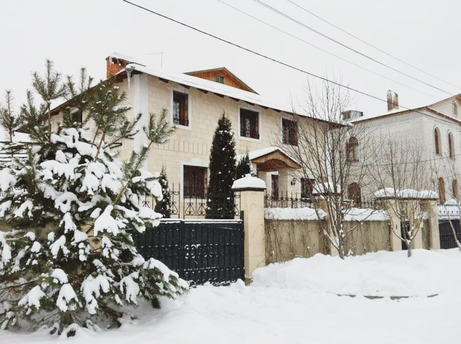 Villa during winter time