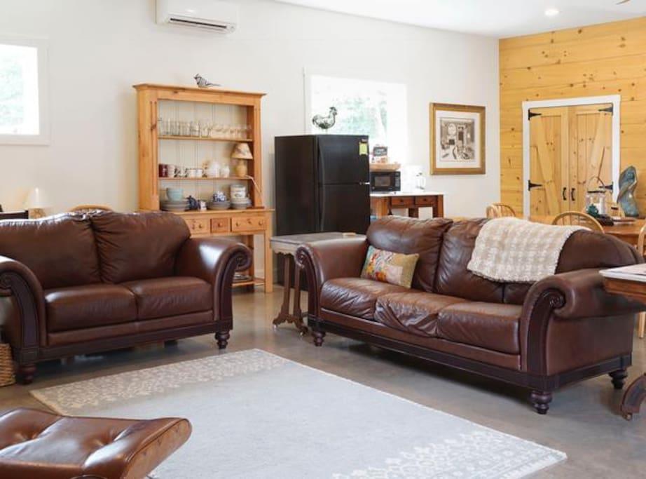 Spacious living room area.