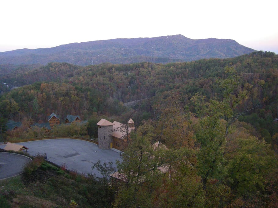 View of wedding chapel from balcony deck