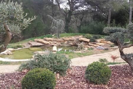 Maison Zen avec étang dans superbe propriété  ! - Éguilles
