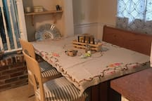 Breakfast nook where guests are welcome
