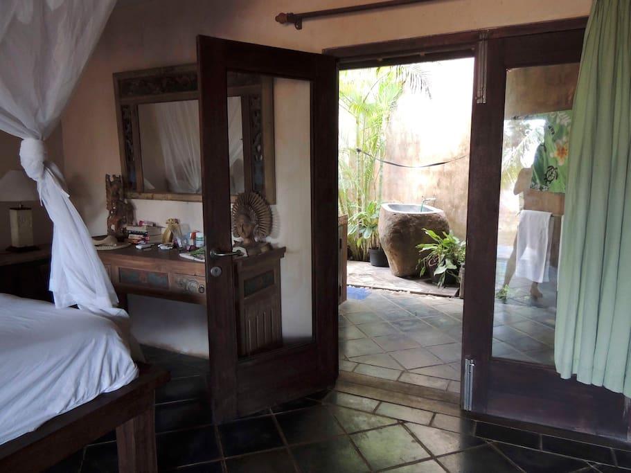 Room #3 door to private garden bathroom