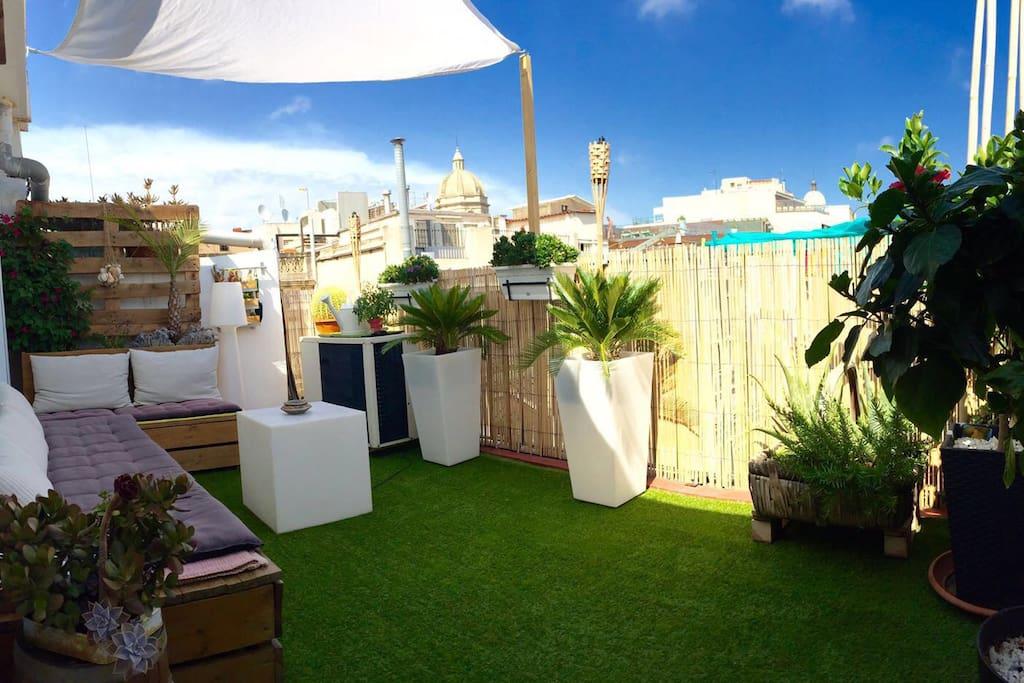 Plaza catalunya atico terraza apartamentos en alquiler - Atico terraza barcelona ...