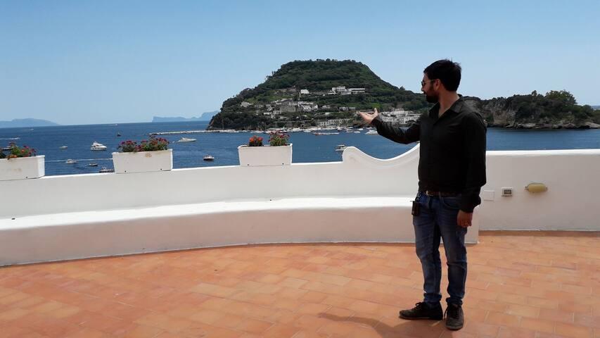 Romantica ed esclusiva camera in villa sul mare