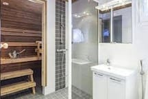 Sauna, kylpyhuone/Sauna, bathroom/сауна, душ