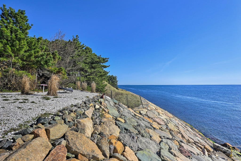 This home places you just steps away from the picturesque shores of Old Cape Cod.
