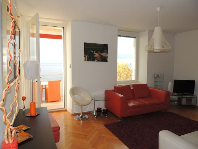 living-room et balcon
