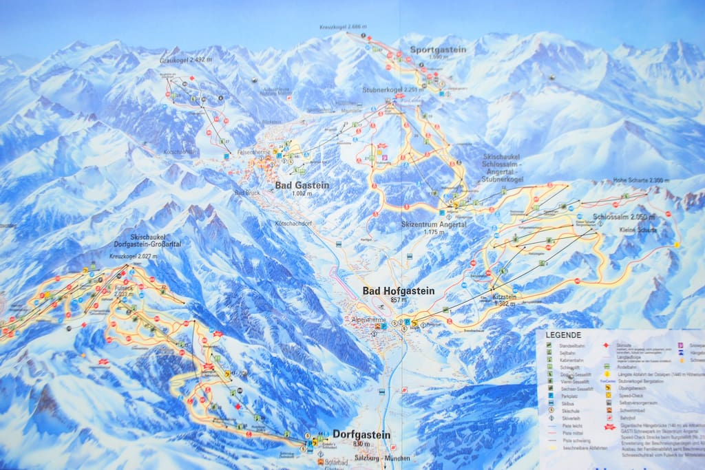 Gastein's 220km of piste makes up the largest individual part of Ski Amade, Austria's biggest ski area: 760km of piste on one ski pass