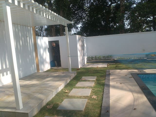luxury villa with pool in trichur town
