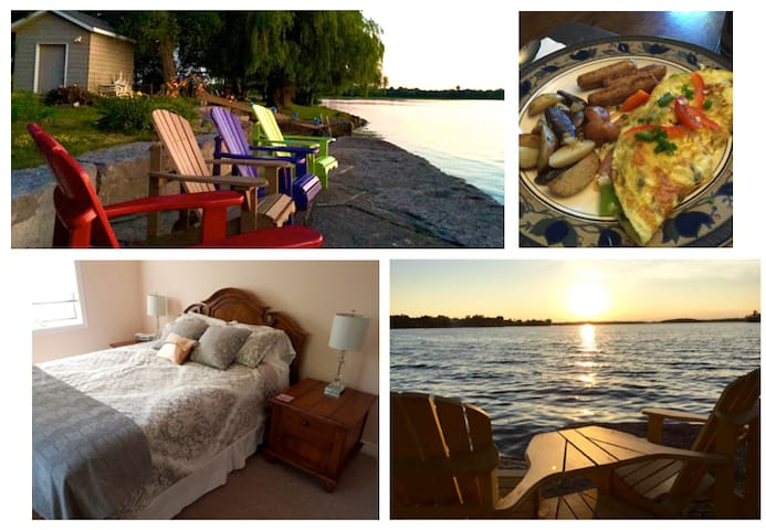 "Lakeshore Retreat on Buckhorn Lake/""La Tour Room"" - Ennismore - Bed & Breakfast"