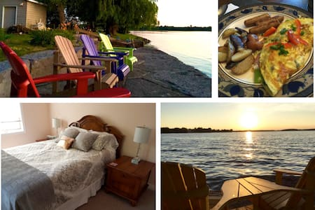 "Lakeshore Retreat on Buckhorn Lake/""La Tour Room"" - Ennismore - Bed & Breakfast"