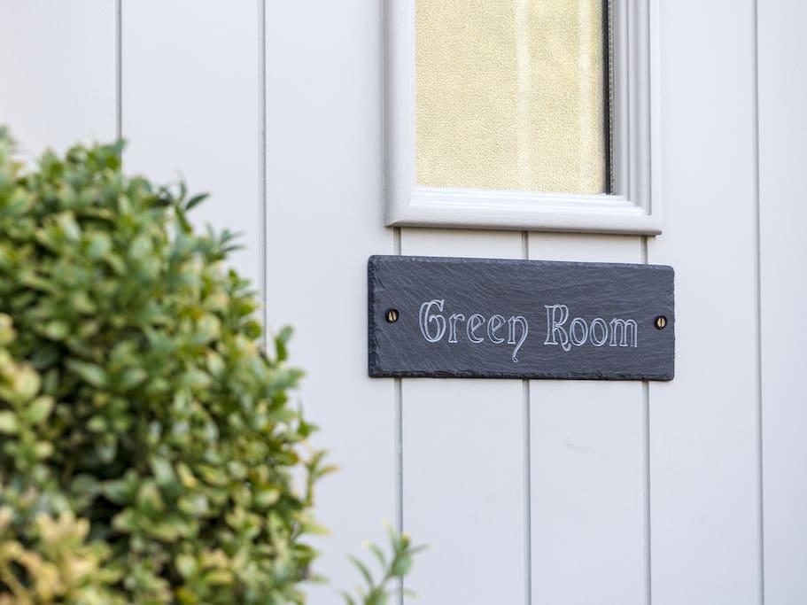 Green Room has its own front door