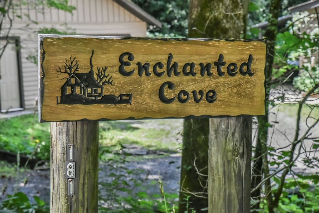 """Welcome to """"Enchanted Cove"""" nested between two little creeks at the base of a mountain 20 minutes from downtown Asheville."""
