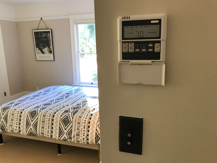 AC/heater with custom temp for the room