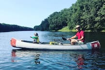 Rent a canoe or launch your own on the mighty Delaware river at nearby Dingman's Bridge.