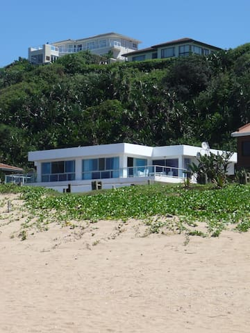 View of the 2 storey house from the beach