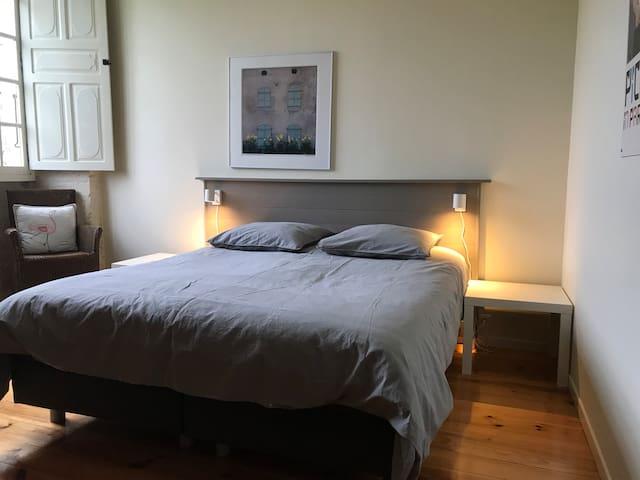 Spacious double bedroom in 17th C manoir