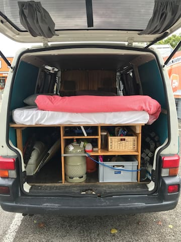 Bed for 2 people in VW van