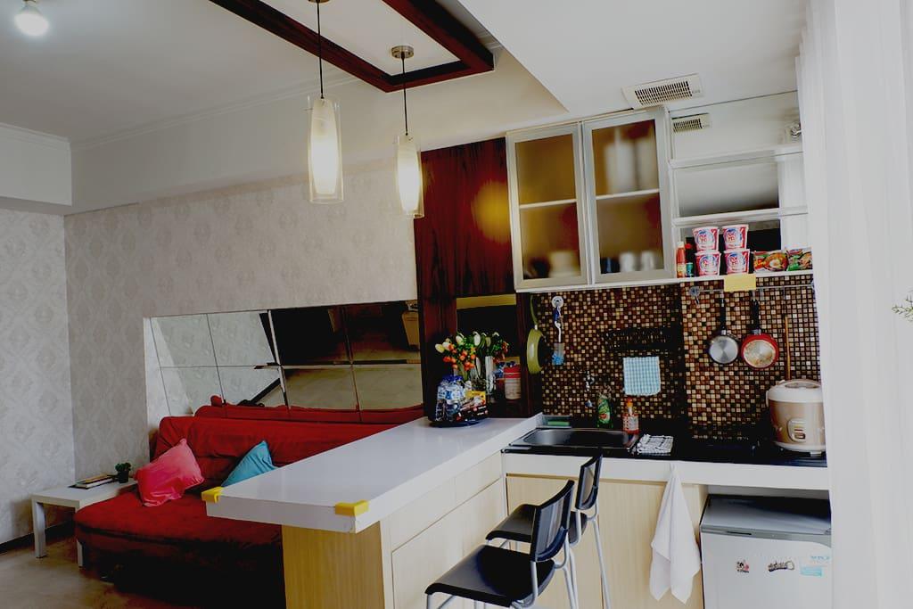 Living Room / Bar / Kitchen