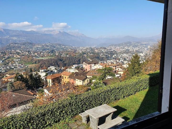 Casetta accogliente con vista sopra Lugano