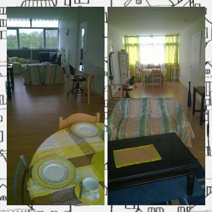 salle à manger / séjour lumineux lumière traversante et très spacieux