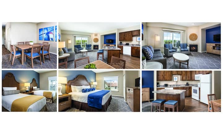 5★ Wyndham Condo~NO FEES~Sleeps 6~DOWNTOWN~2 Bedrm