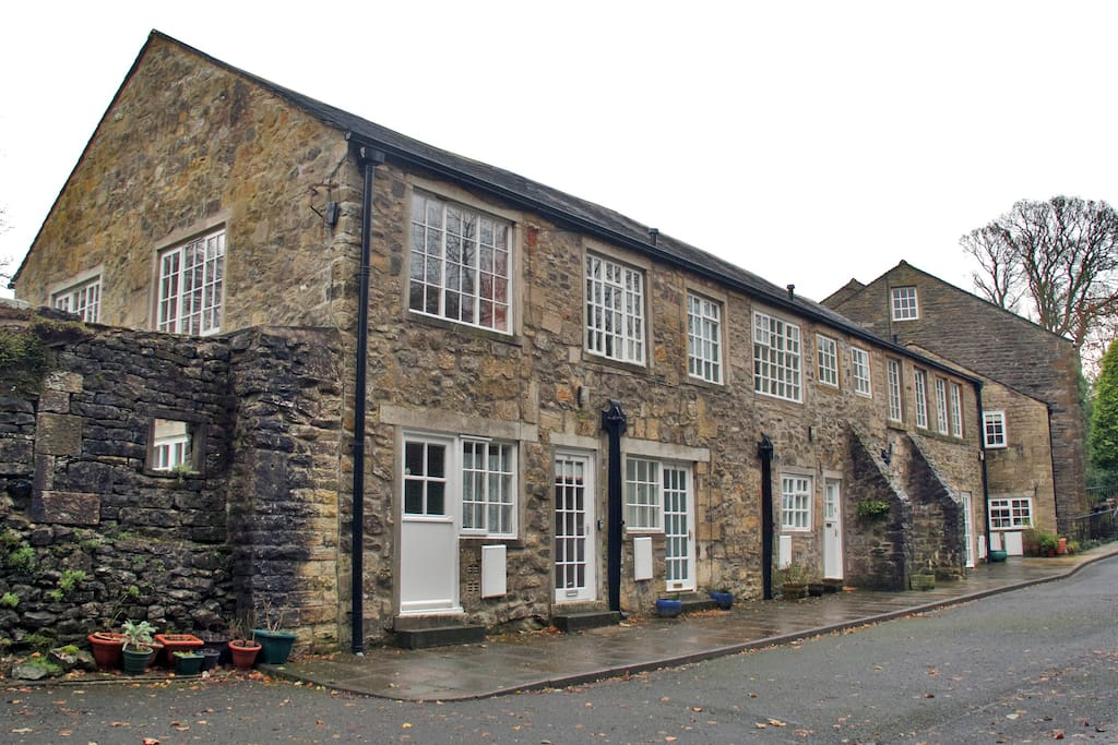 The converted mill in Airton is set in its own peaceful surroundings.