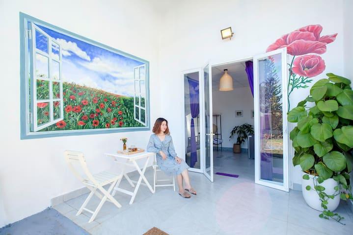 Phòng Tím Ama Jhao Vuon Phap homestay