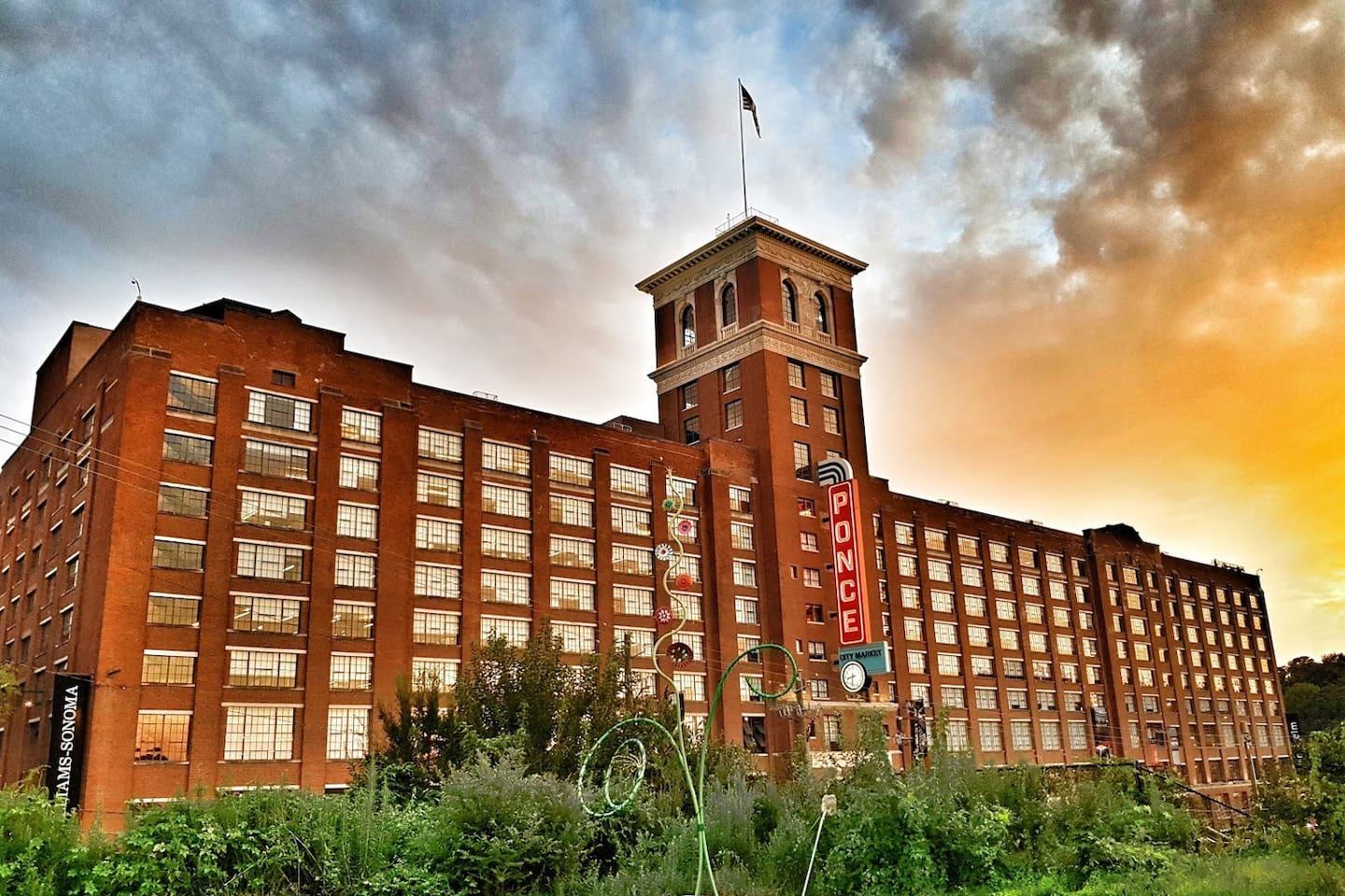 Stay across the street (less than 100 steps) from the famous Ponce City Market!